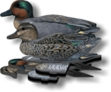 Green Wing Teal Decoys in Box of Six (3 Drake & 3 Hen)